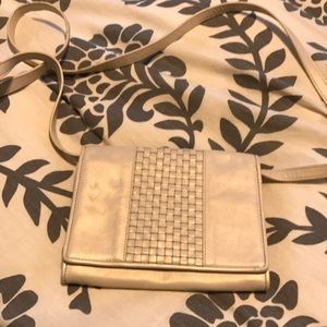 🆕Cole Haan pearl white leather cross body bag